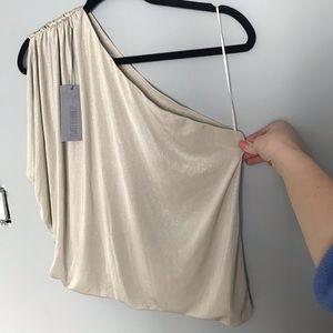 One-shoulder Shimmer Top